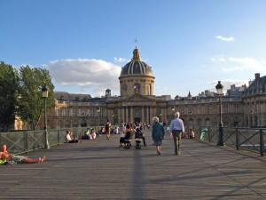 Le Pont des Arts on the day of the picnic